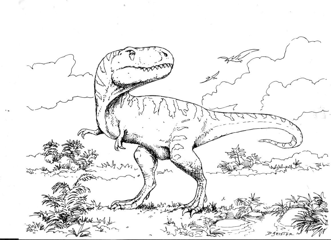 T rex coloring book google search