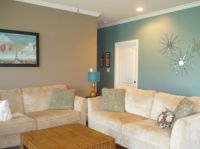 Image detail for -Tan and Blue Living - Living Room ...
