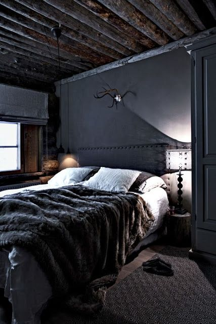 Trend Scout Inky interiors and black walls Interiors, Walls and - dark bedroom ideas