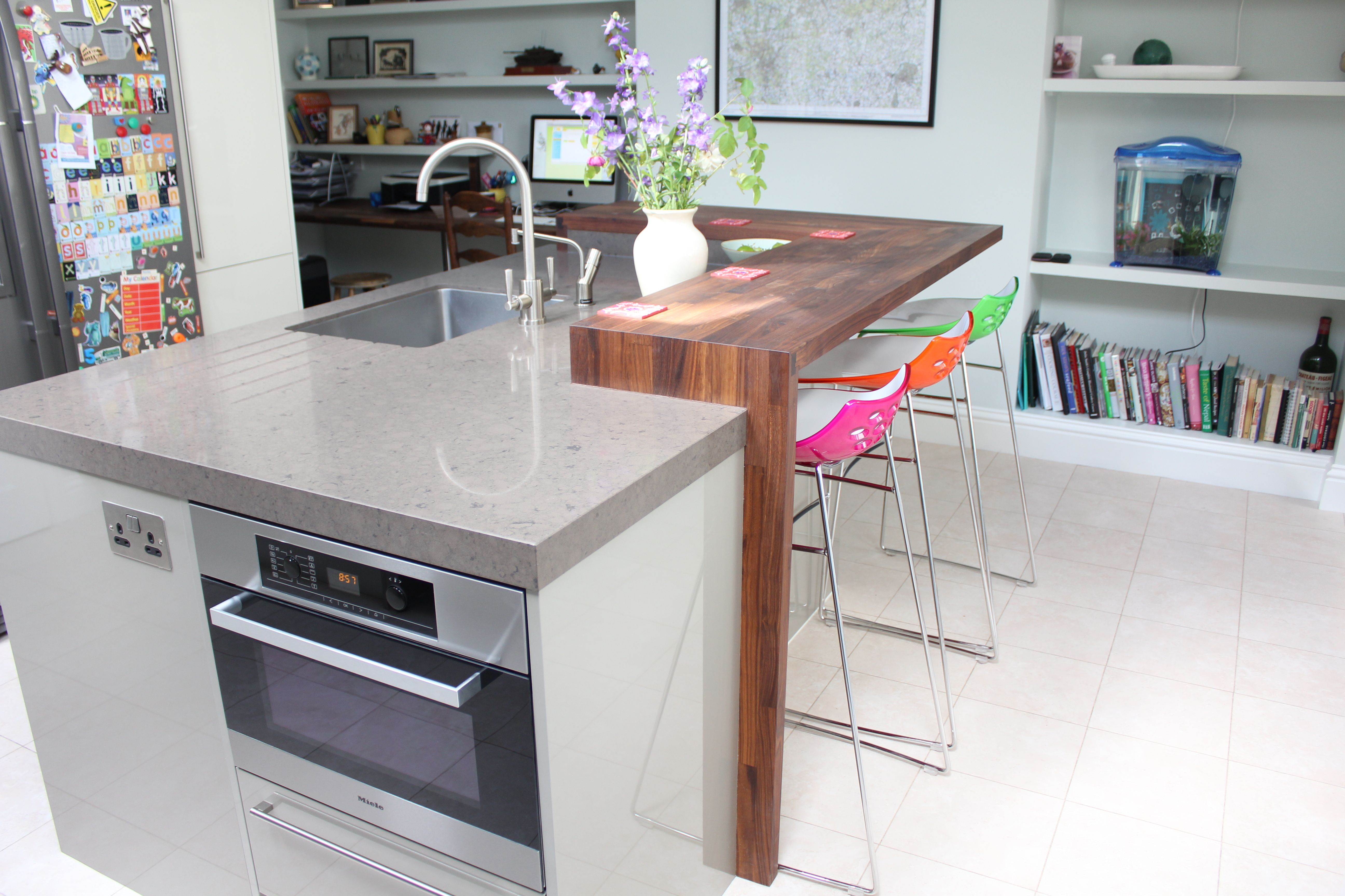 Kitchen Island Bar With Seating Island Incorporating Microwave Oven Dishwasher Sink And