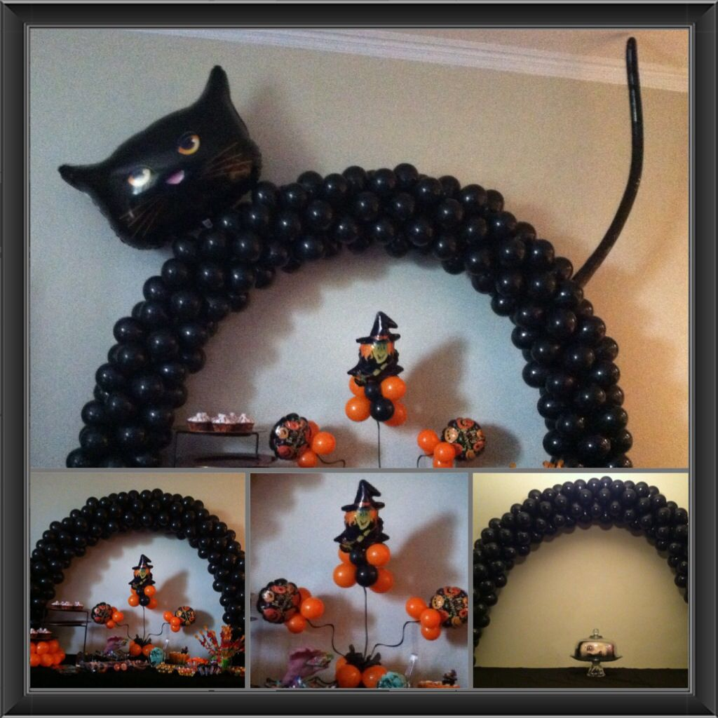 Black Cat Decorations Halloween Inspired Balloon Decorations Black Cat Arch