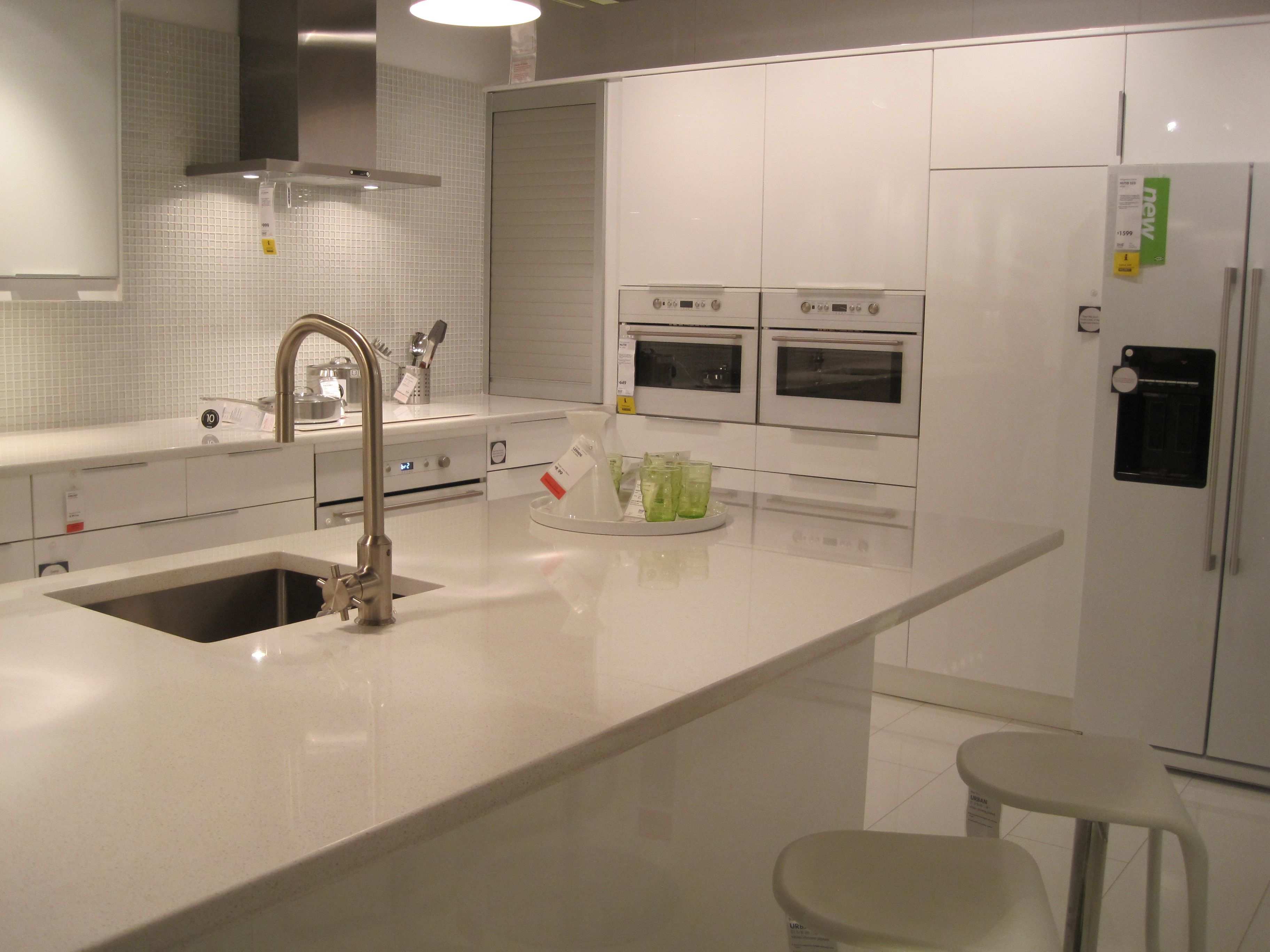 Ikea Open Today Like This High Gloss White Abstrakt Kitchen At Ikea That