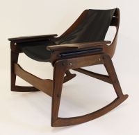 Mid Century Modern Jerry Johnson Sling Rocking Chair 1960 ...