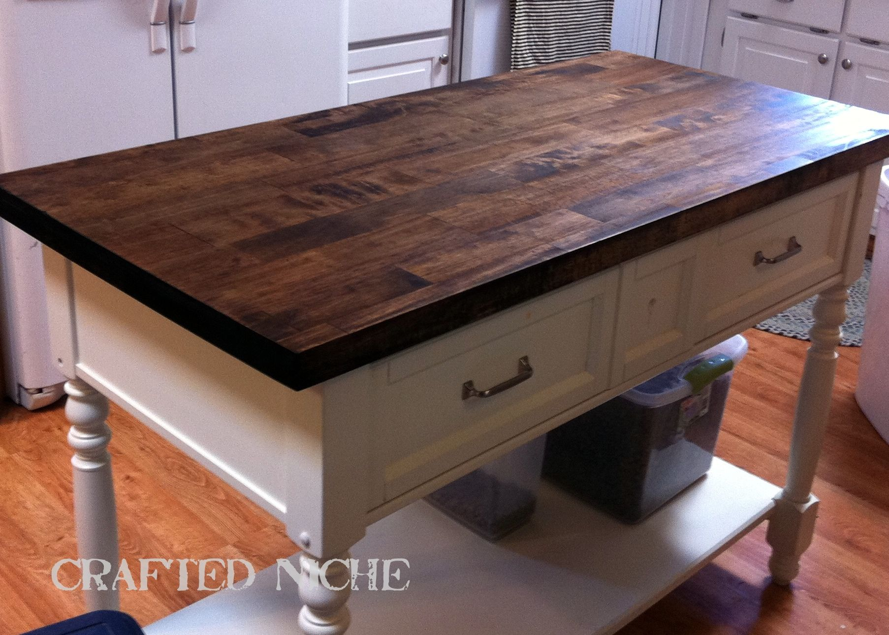 butcher block kitchen table DARK WALNUT butcher block water based poly for new