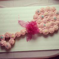 Pink baby girl rattle cupcake cake for a baby shower | My ...