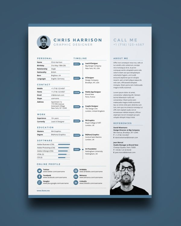 15 free resume templates Free resume, Cv template and Creative - free resume layouts