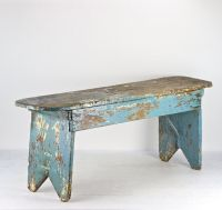 Farmhouse Bench Turquoise Farmhouse Bench Old Bench Rustic ...