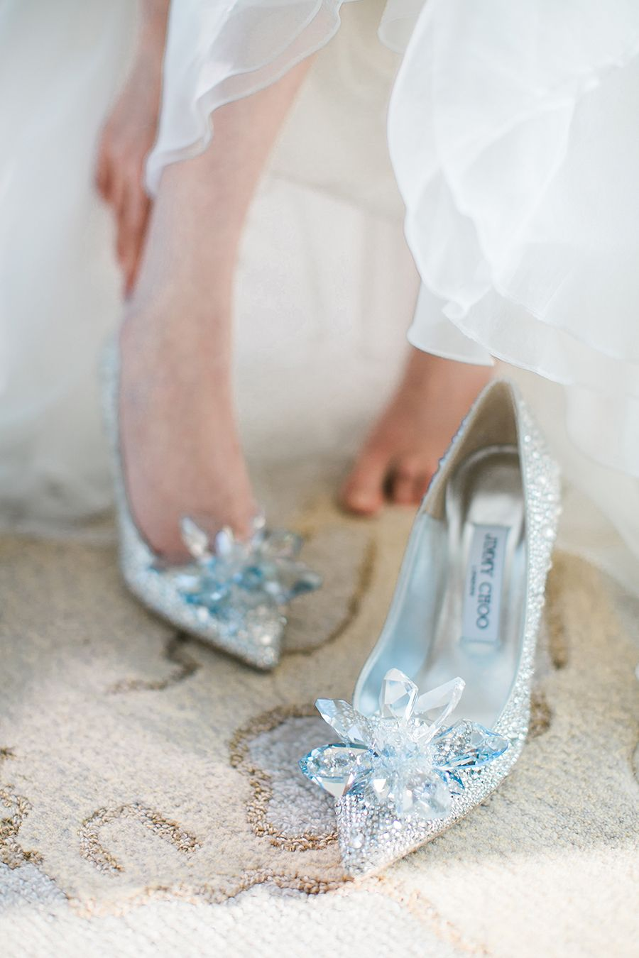 cinderella wedding shoes A Kaleidoscope of Pastels Johann and Emily s Wedding