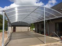Multiwall polycarbonate sheet used in curved roof ...