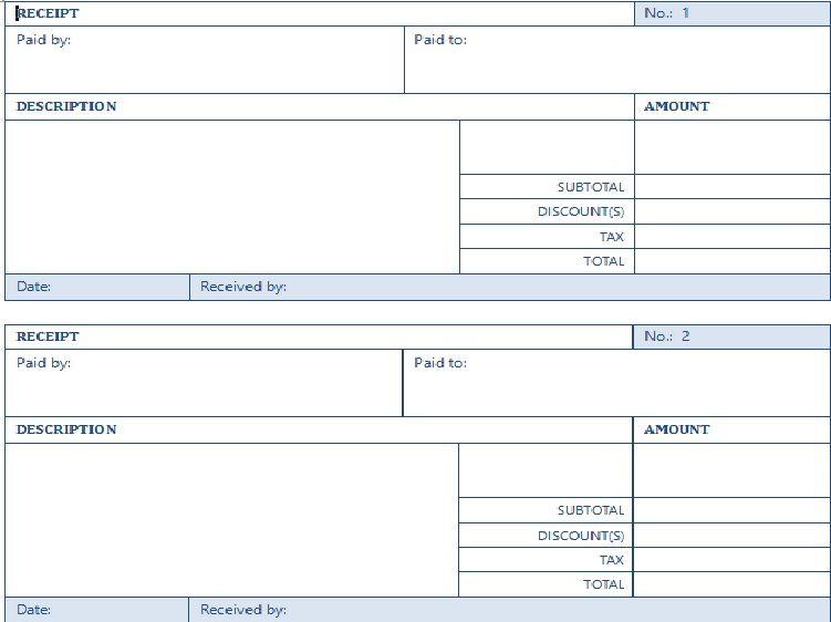 free rental receipt template microsoft word Excel Templates - blank receipt template microsoft word