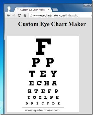 eye chart maker, eye chart generators, eye chart templates, iphone - eye chart template