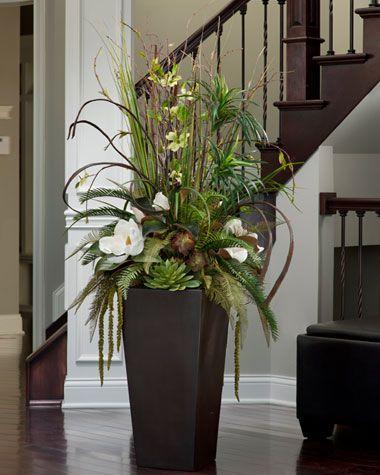tall Silk Flower Centerpieces home shop at home silk and - silk arrangements for home decor