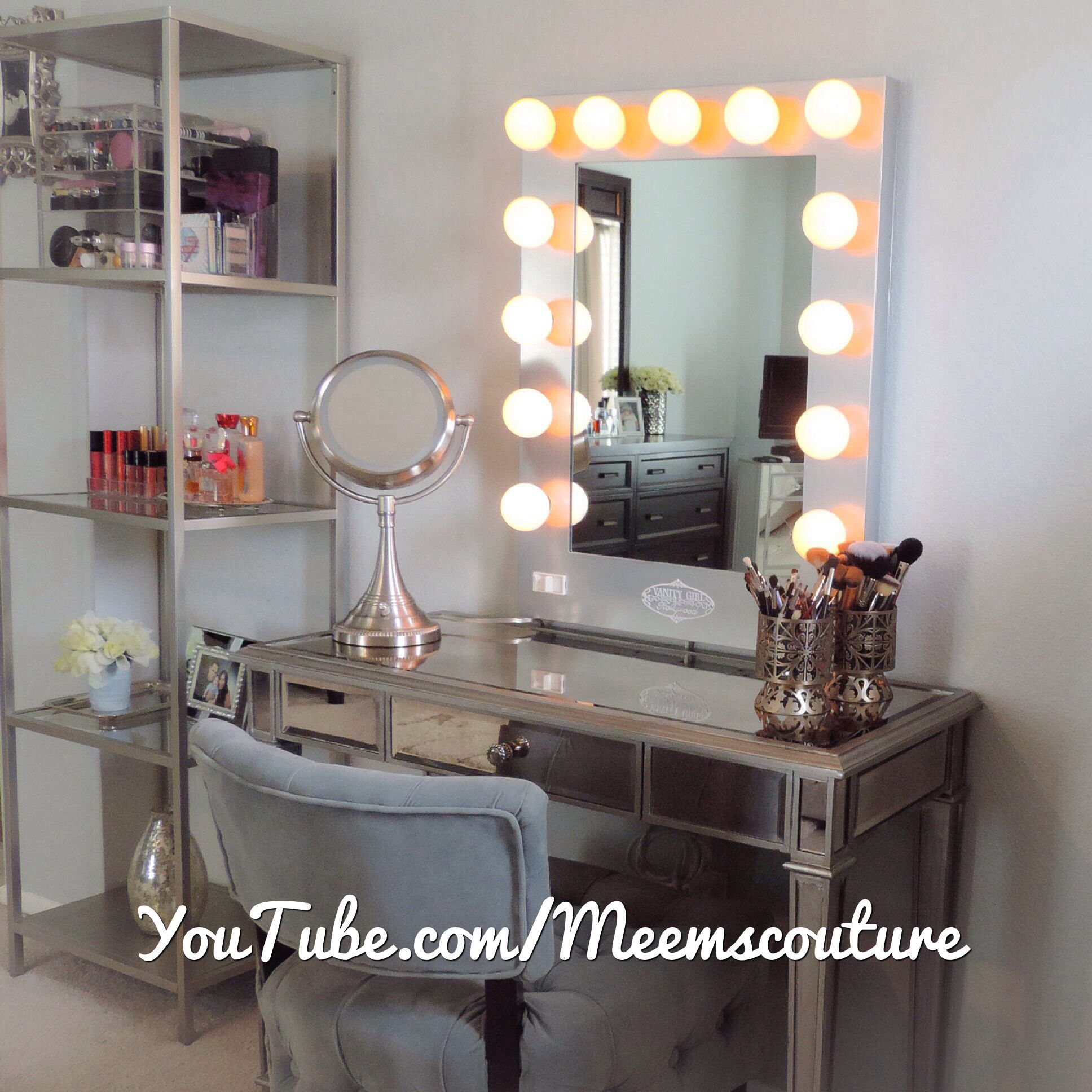 Hollywood Mirror Lights Ikea Vanity Girl Hollywood Silver Broadway Mirror With Hayworth