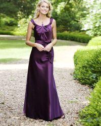 purple satin bridesmaid dresses