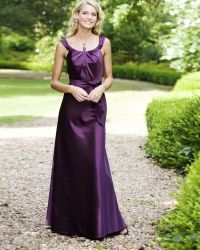 purple satin bridesmaid dresses | Top 100 Dark purple ...