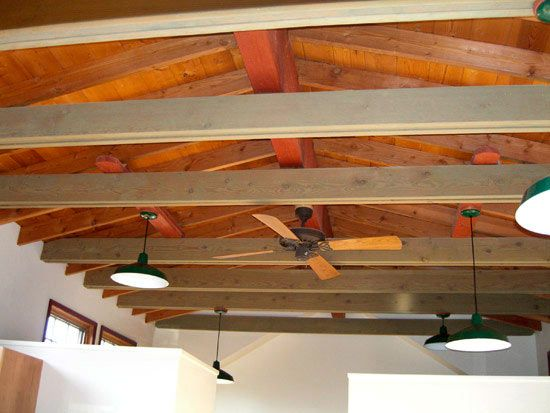 exposed ceiling joists