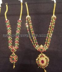 Jewellery Designs: 15 to 17 Grams Gemstone Necklaces