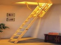 Pull Down Attic Stairs Design Offering Practical Use ...