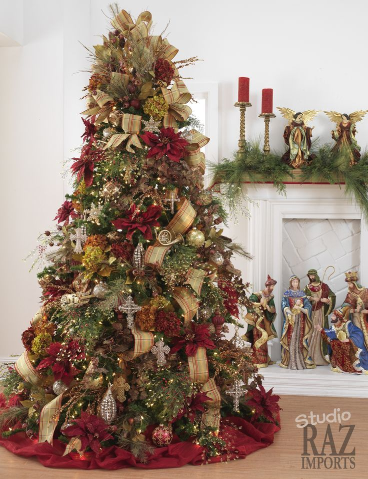 Beautifully Decorated Christmas Trees Christmas Tree With   Country  Christmas Tree Decorations