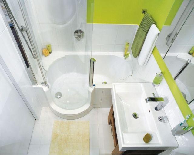 kleines bad gestalten beispiel badewanne duschkabine Bad - badideen fur kleine bader