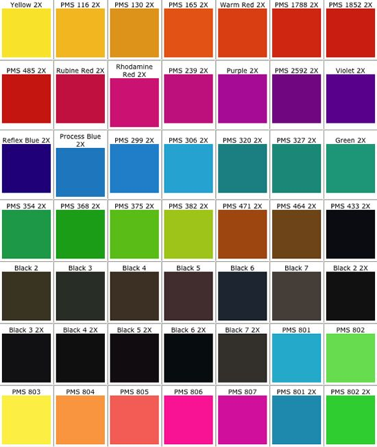Real Access Promotional Products Creative Business - PMS Color - sample pantone color chart