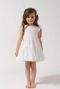 FULL DRESS FOR LITTLE GIRL Cotton crepon dress, backside ...