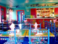 Colorful interior of Caribbean restaurant | Color! Color ...