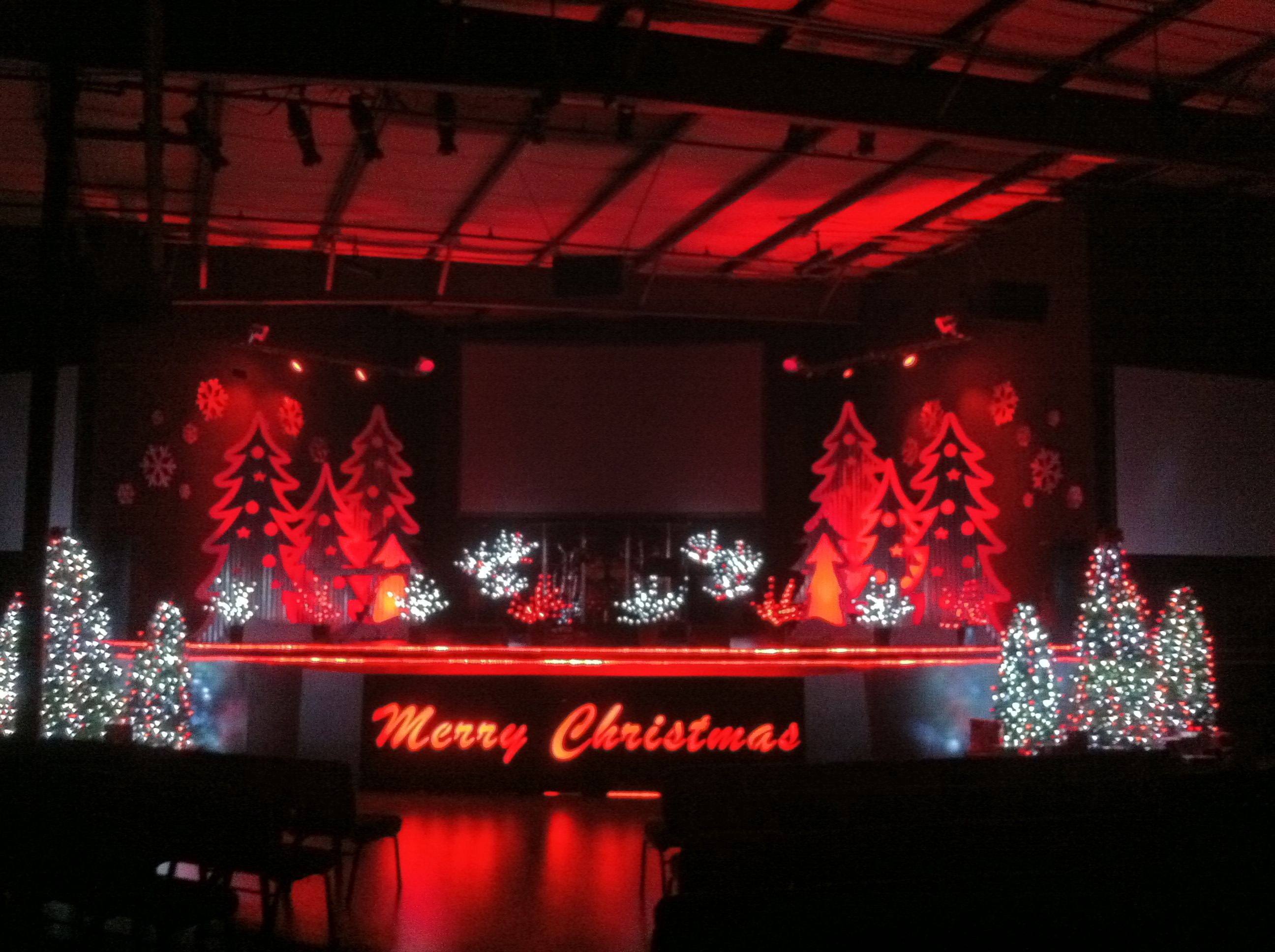 Stage Decoration Ideas Design Christmas Decorations On A Stage Christmas Ridges