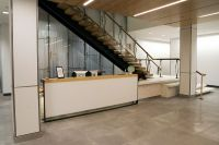 Reception desk under stairs | Stairwells | Pinterest ...