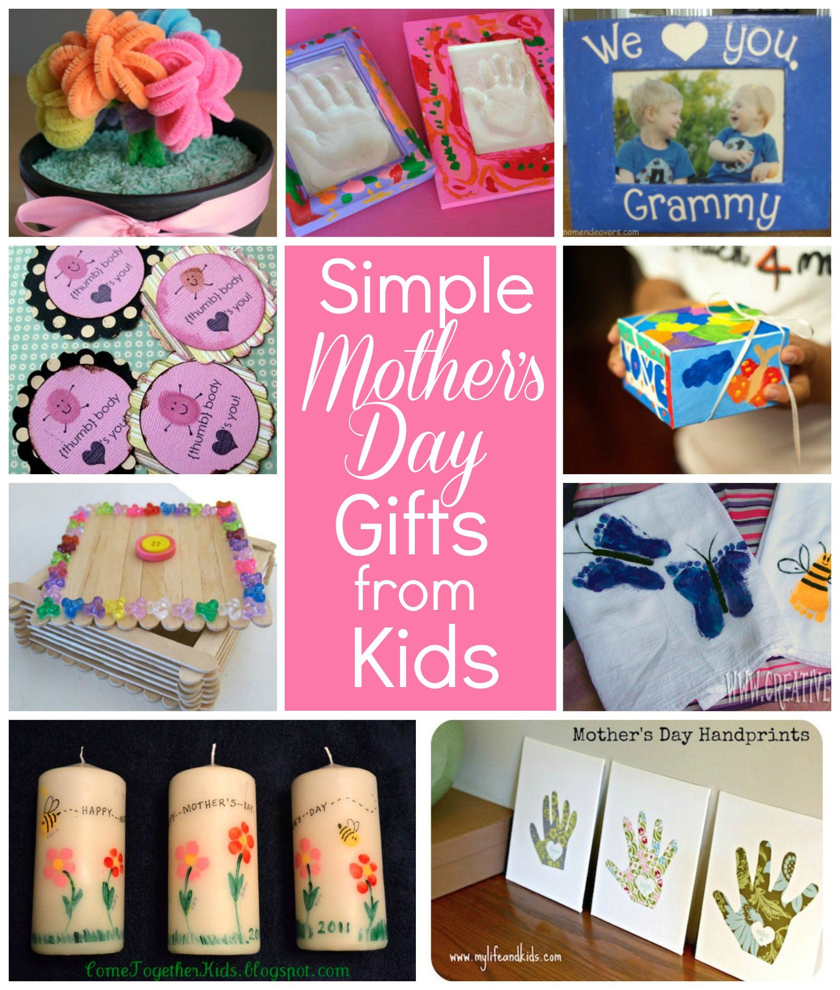 Diy Mothers Day Gifts For Grandma 10 Simple Mothers Day Gifts Kids Can Make Mothersday Via