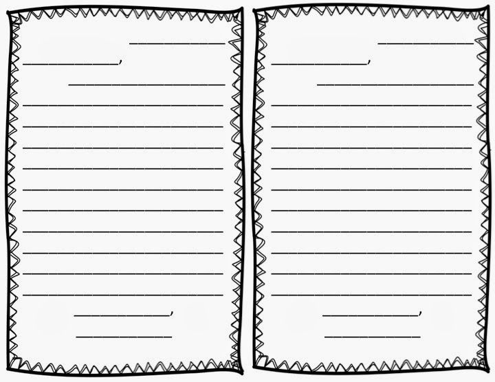 FREE Friendly Letter Writing Template with scaffolding for - letter writing template