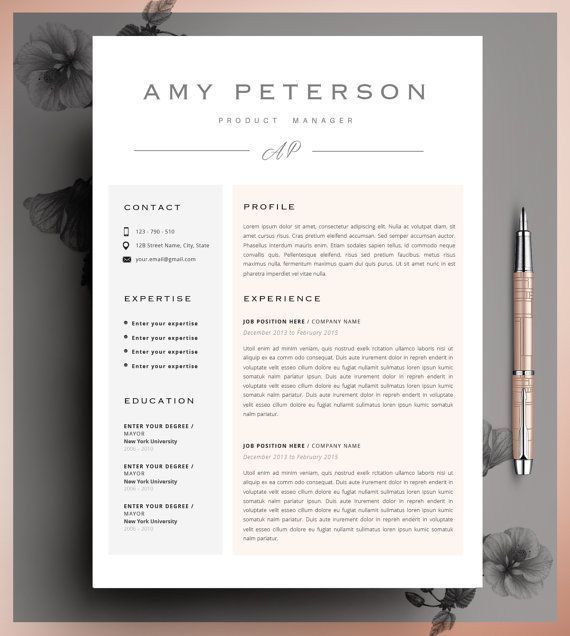 Creative Resume Template CV Template Instant by CvDesignCo - fashion resume templates