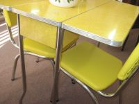 retro drop leaf kitchen tables and chairs | Yellow 1950s ...