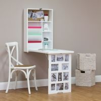 Photo Frame Fold Down Multi Storage Desk - White | Buy ...