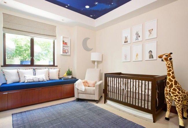 Babyzimmer In Dunkelblau Und Beige Gestalten   Moderne Idee Rosa    Babyzimmer Grau Rosa Idea