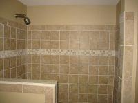shower half wall, tile | Bathroom renovations | Pinterest ...