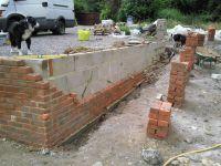 brick garden wall | Retaining wall built by Southampton ...