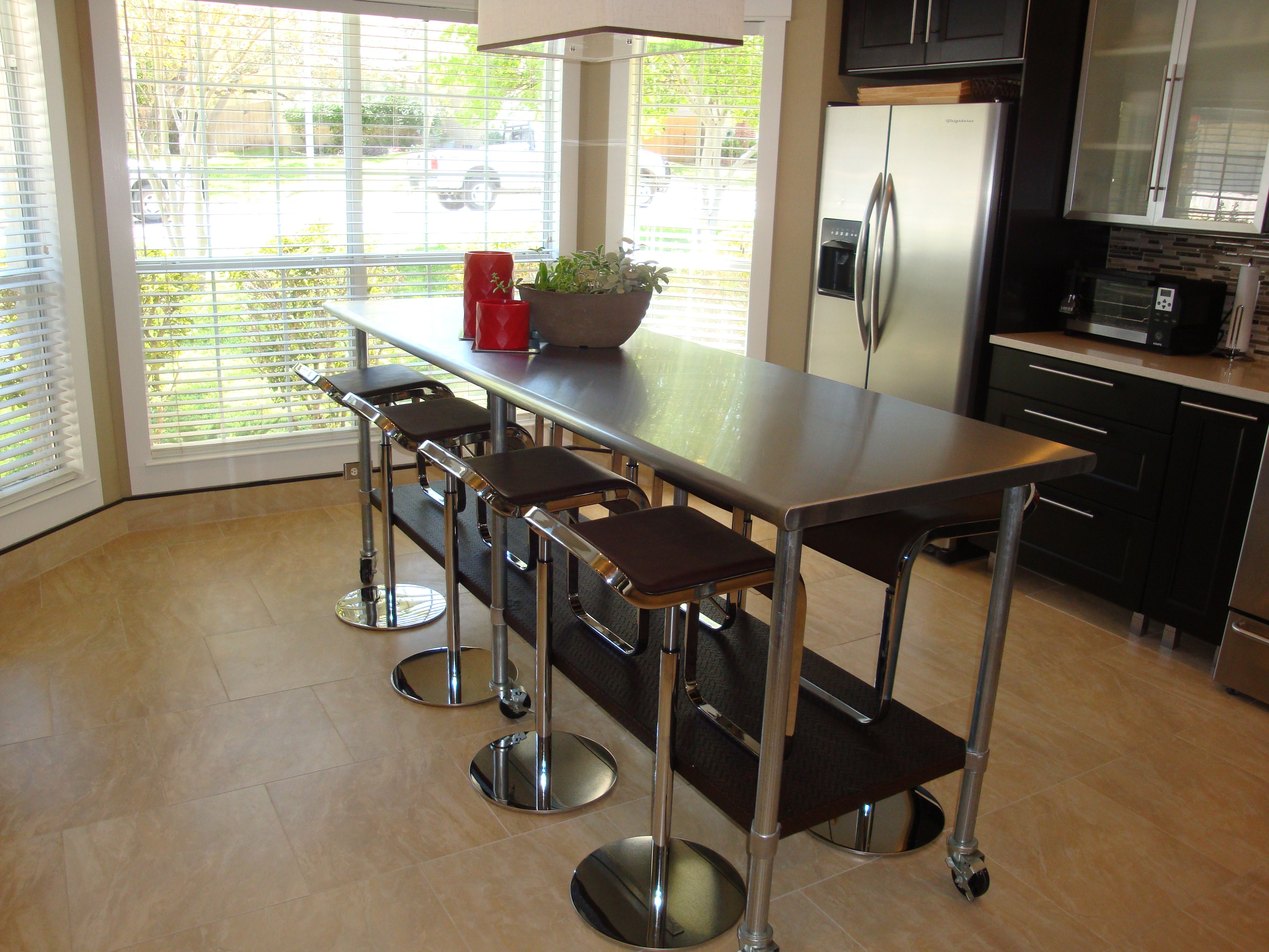 stainless steel table kitchen prep table Kitchen Island Table We ve had this for a few years and this is