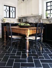 My Home Office: Making (Some) Progress | Black tiles ...
