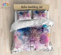 Elephant bedding, Bohemian duvet cover set, Elephant ...