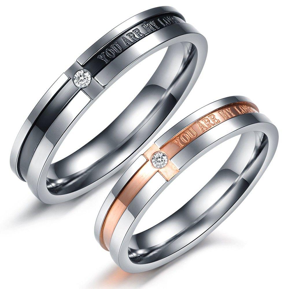 titanium wedding band OPK Korean Lover JEWELRY Titanium Wedding Bands Couple Rings men and women s promise ring sets
