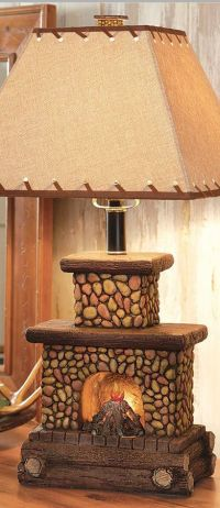 Fireplace Table Lamp | Rustic Home Decor | Pinterest ...
