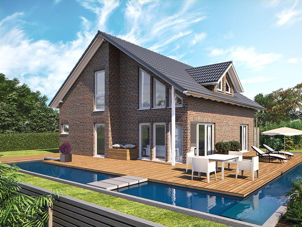 Hanlo Klinkerhaus Living 185 Gartenansicht ---u003e Zahlreiche - wohnideen modern