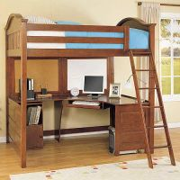 Full Size Loft Bed with Desk on Pinterest | Girls Bedroom ...
