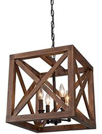 """$286 - 15""""x18"""" - Wood Cube Authentic Wooden Cage Pendant ..."""