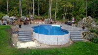 Radiant 18x32 Freeform built into a hill with stamped ...