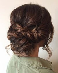 Beautiful braid updo wedding hairstyle for romantic brides ...