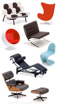 Iconic chairs of the 20th century - eames lounge chair, le ...