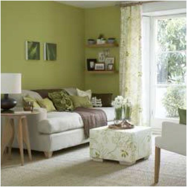 Olive green living room possibly Home Decorating Ideas - green living rooms