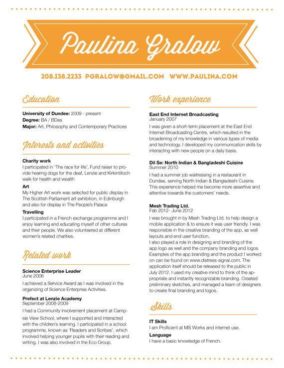 customized resume design \/ the paulina Résumé Aesthetics - resume design templates